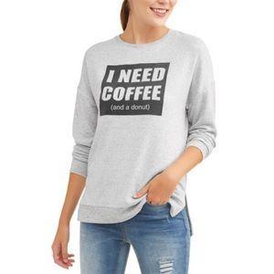 I need coffee & a donut sweater